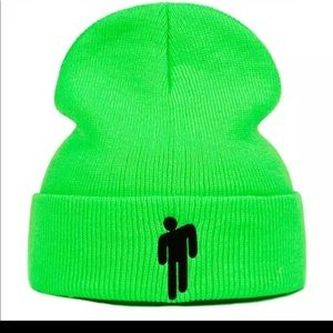 Neon green Billie Eilish Beanie hip hop